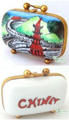 China Travel Suitcase Limoges Boxes - Limoges Boxes Porcelain Figurines