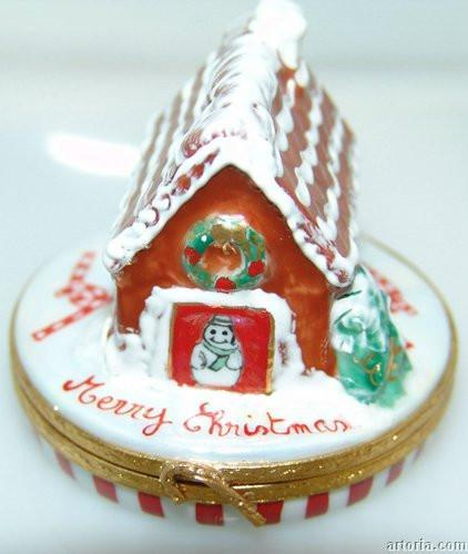 Gingerbread House/Candycanes Limoges Boxes Limoges Boxes Porcelain Figurines Collectibles Gifts