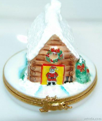 Santa's House Limoges Boxes - Limoges Boxes Porcelain Figurines