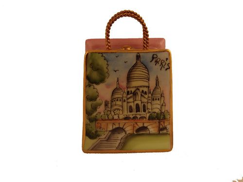 Sacre Coeur Modern Bag Limoges Boxes - Limoges Boxes Porcelain Figurines