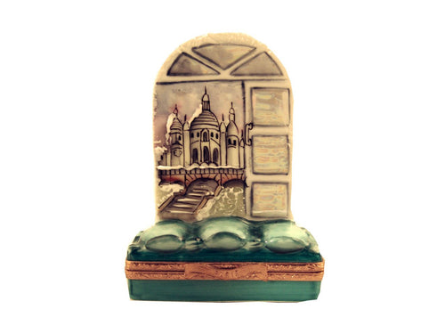 Winter Window of Sacre Coeur Limoges Boxes - Limoges Boxes Porcelain Figurines