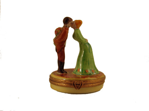 Loving Couple w/ Coquelicots-love hearts wedding france-Artoria-Limoges Box Boutique