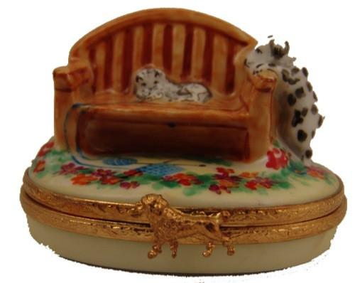 Garden Bench Limoges Boxes - Limoges Boxes Porcelain Figurines