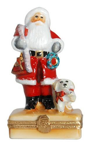 You'd Better Not Pout Santa Claus Limoges Boxes - Limoges Boxes Porcelain Figurines