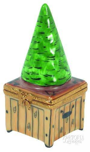 Topiary On Wood Base-flowers garden mother-Artoria-Limoges Box Boutique