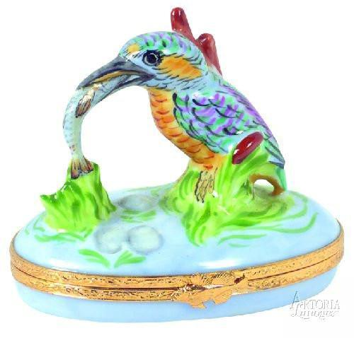 King Fisher Limoges Boxes Limoges Boxes Porcelain Figurines Collectibles Gifts