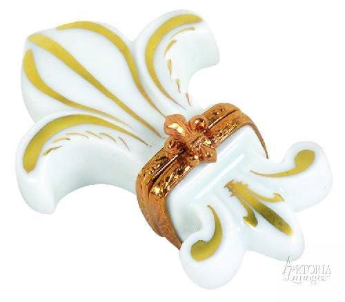 Fleur De Lys: White Limoges Boxes - Limoges Boxes Porcelain Figurines