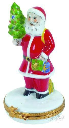 Santa Claus Limoges Boxes - Limoges Boxes Porcelain Figurines