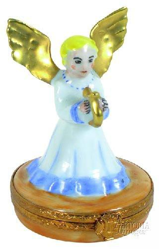 Angel With Harp Limoges Boxes Limoges Boxes Porcelain Figurines Collectibles French Gifts