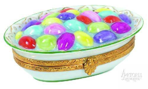 Jelly Bean Basket Limoges Boxes Limoges Boxes Porcelain Figurines Collectibles Gifts