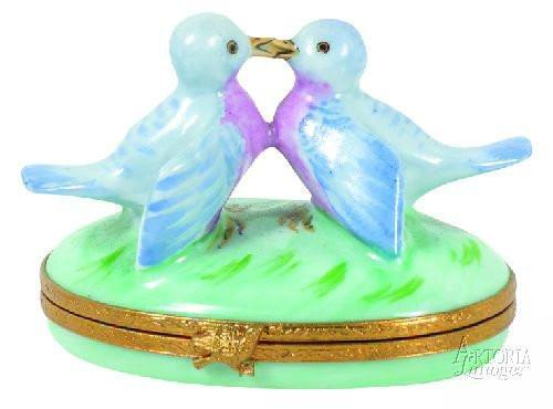 Bluebirds In Love Limoges Boxes Limoges Boxes Porcelain Figurines Collectibles French Gifts