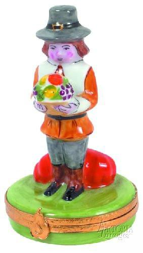 Mr.Pilgrim Limoges Boxes - Limoges Boxes Porcelain Figurines
