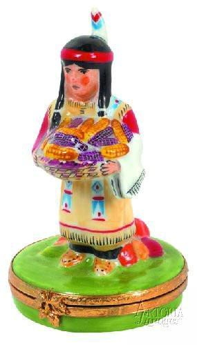 Indian Woman Limoges Boxes Limoges Boxes Porcelain Figurines Collectibles Gifts