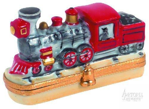 Locomotive-travel vehicles train locomotive united states-Artoria-Limoges Box Boutique