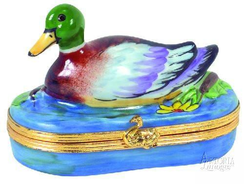 Mallard Duck-duck mallard duck bird-Artoria-Limoges Box Boutique