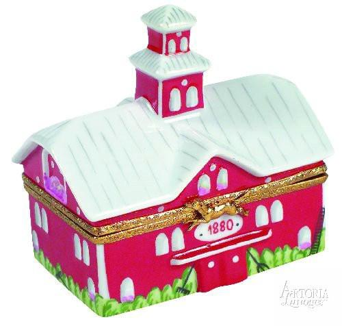 Big Red Barn With Cow Limoges Boxes Limoges Boxes Porcelain Figurines Collectibles French Gifts