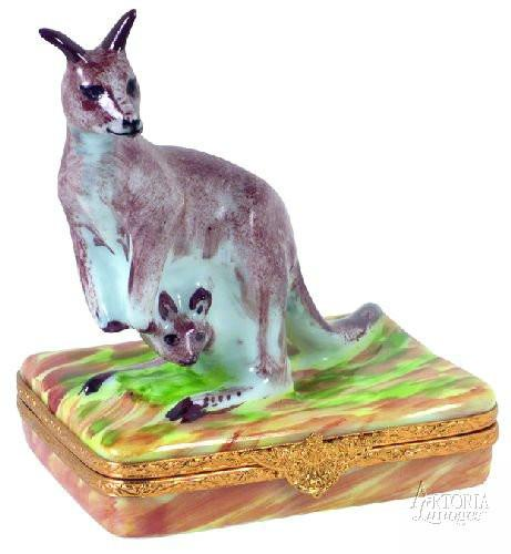 Kangaroo Limoges Boxes Limoges Boxes Porcelain Figurines Collectibles Gifts
