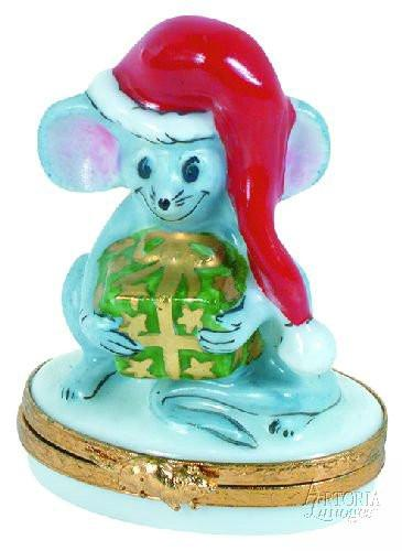 Christmas Mouse-christmas mice-Artoria-Limoges Box Boutique