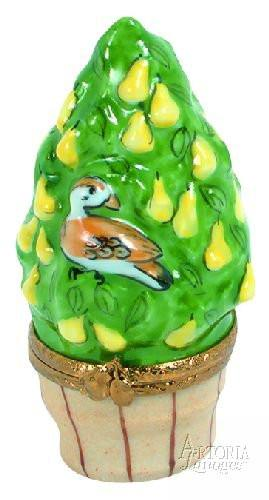 Partridge In A Pear Tree-christmas patridge in a pear tree 12 days of christmas-Artoria-Limoges Box Boutique