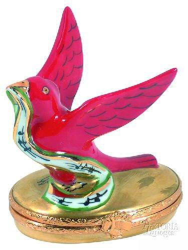 Four Calling Birds 12 Days of Christmas Limoges Boxes - Limoges Boxes Porcelain Figurines