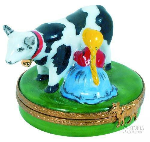 Eight Maids A-Milking - 12 Days of Christmas Limoges Boxes - Limoges Boxes Porcelain Figurines