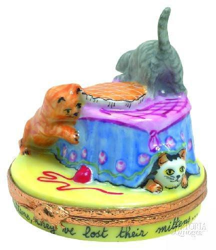 3 Little Kittens Limoges Boxes Limoges Boxes Porcelain Figurines Collectibles French Gifts