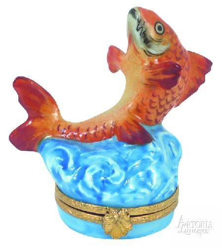 Goldfish Limoges Boxes Limoges Boxes Porcelain Figurines Collectibles Gifts