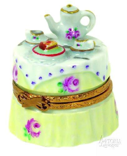 Garden Tea Party Limoges Boxes - Limoges Boxes Porcelain Figurines