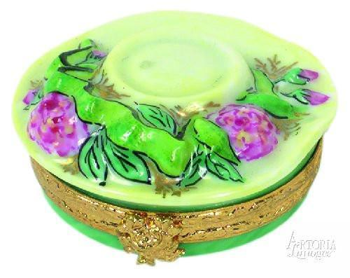Garden Hat Limoges Boxes - Limoges Boxes Porcelain Figurines