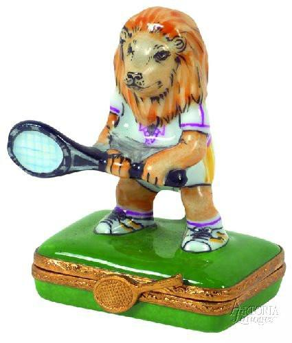Tennis-sports tennis animals-Artoria-Limoges Box Boutique