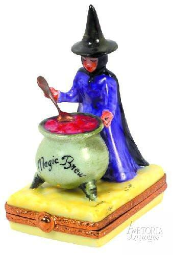 Witch's Brew Limoges Boxes - Limoges Boxes Porcelain Figurines