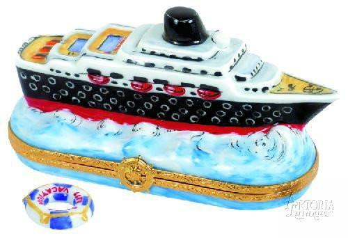 Cruise Ship Limoges Boxes - Limoges Boxes Porcelain Figurines