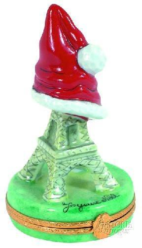 Eiffel Tower Christmas Limoges Boxes - Limoges Boxes Porcelain Figurines