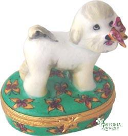 Bichon Frise Limoges Boxes Limoges Boxes Porcelain Figurines Collectibles French Gifts