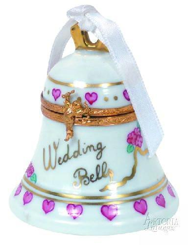 Wedding Bell Limoges Boxes - Limoges Boxes Porcelain Figurines