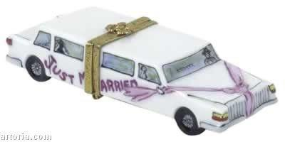 Just Married Limo Limoges Boxes Limoges Boxes Porcelain Figurines Collectibles Gifts