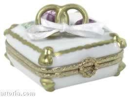 Wedding Rings Limoges Boxes - Limoges Boxes Porcelain Figurines