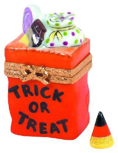 Trick Or Treat Bag Limoges Boxes - Limoges Boxes Porcelain Figurines