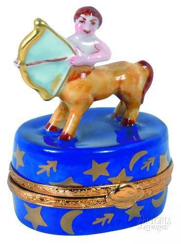Sagittarius Limoges Boxes - Limoges Boxes Porcelain Figurines