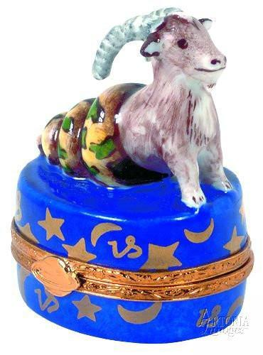 Capricorn Zodiac Limoges Boxes - Limoges Boxes Porcelain Figurines