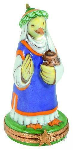 Wiseman : Duck Limoges Boxes - Limoges Boxes Porcelain Figurines