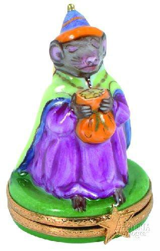 Wiseman : Mouse Limoges Boxes - Limoges Boxes Porcelain Figurines