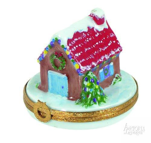 House With Christmas Lights Limoges Boxes Limoges Boxes Porcelain Figurines Collectibles Gifts