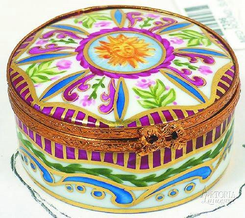 Medium Round: Sun King-egg special occasions-Artoria-Limoges Box Boutique