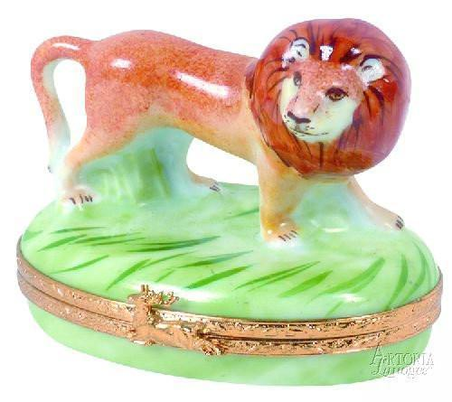 Lion-cat animal lion-Artoria-Limoges Box Boutique