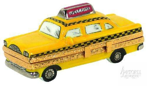 New York Taxi Limoges Boxes - Limoges Boxes Porcelain Figurines