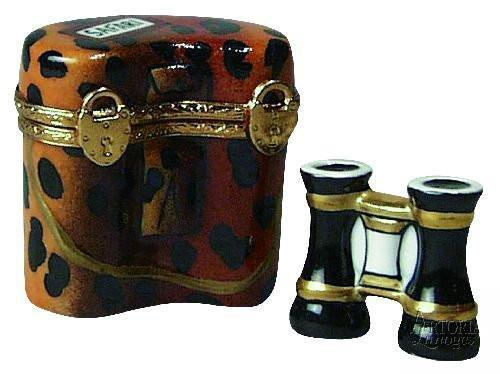 Safari Binoculars Limoges Boxes - Limoges Boxes Porcelain Figurines