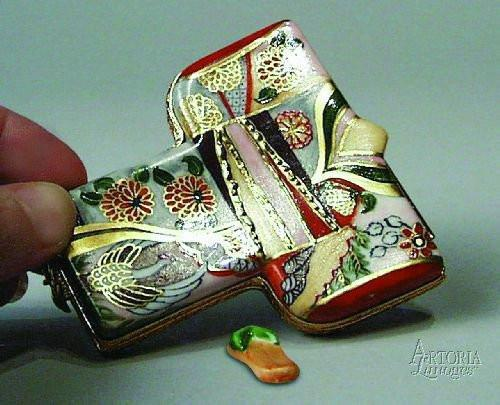 Kimono: Gold & Orange Limoges Boxes Limoges Boxes Porcelain Figurines Collectibles Gifts