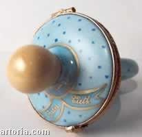 Baby Pacifier: Blue Limoges Boxes Limoges Boxes Porcelain Figurines Collectibles French Gifts