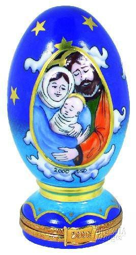 Nativity Millenium Egg Limoges Boxes - Limoges Boxes Porcelain Figurines